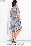 Принтованное платье в больших размерах до колен с расклешенной юбкой и коротким рукавом  vN7764, фото 5