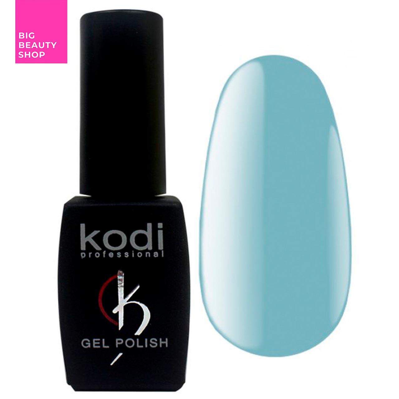 """Гель-лак для ногтей Kodi Professional """"Blue"""" №B120 Бирюзово-голубой (эмаль) 8 мл"""