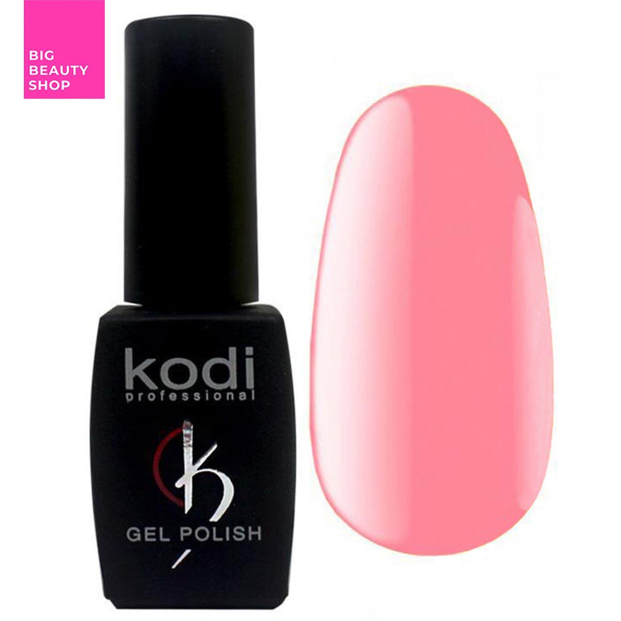 """Гель-лак для ногтей Kodi Professional """"Bright"""" №BR090 Светло-розовый неоновый (эмаль) 8 мл"""