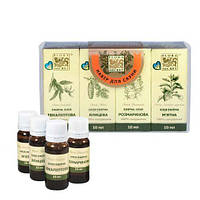 Набор эфирных масел Flora Secret для сауны и бани, 4х10 мл
