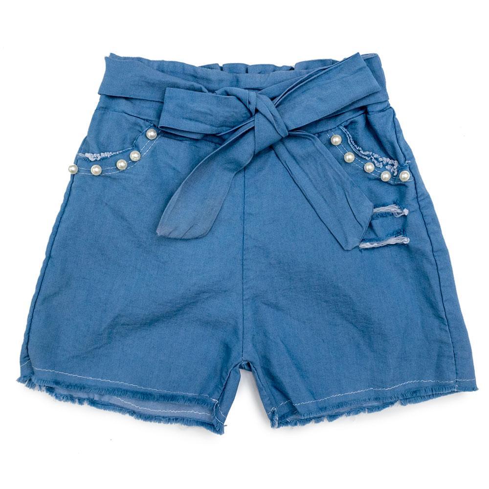 Шорты для девочек Fashion 116  голубые 2167