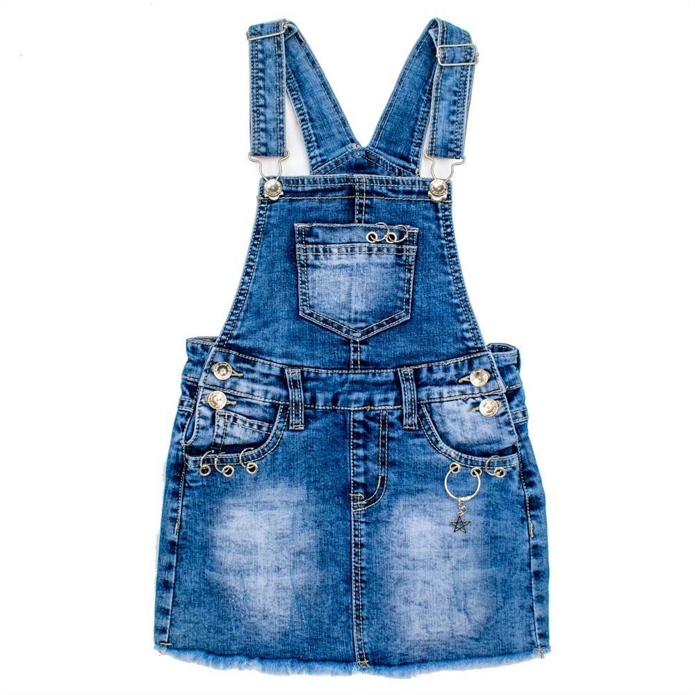 Комбинезон-юбка для девочек Grace 116  синий 80810
