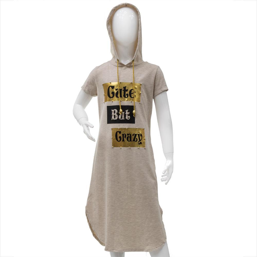 Платье для девочек Toontoy 134  бежевое 10757