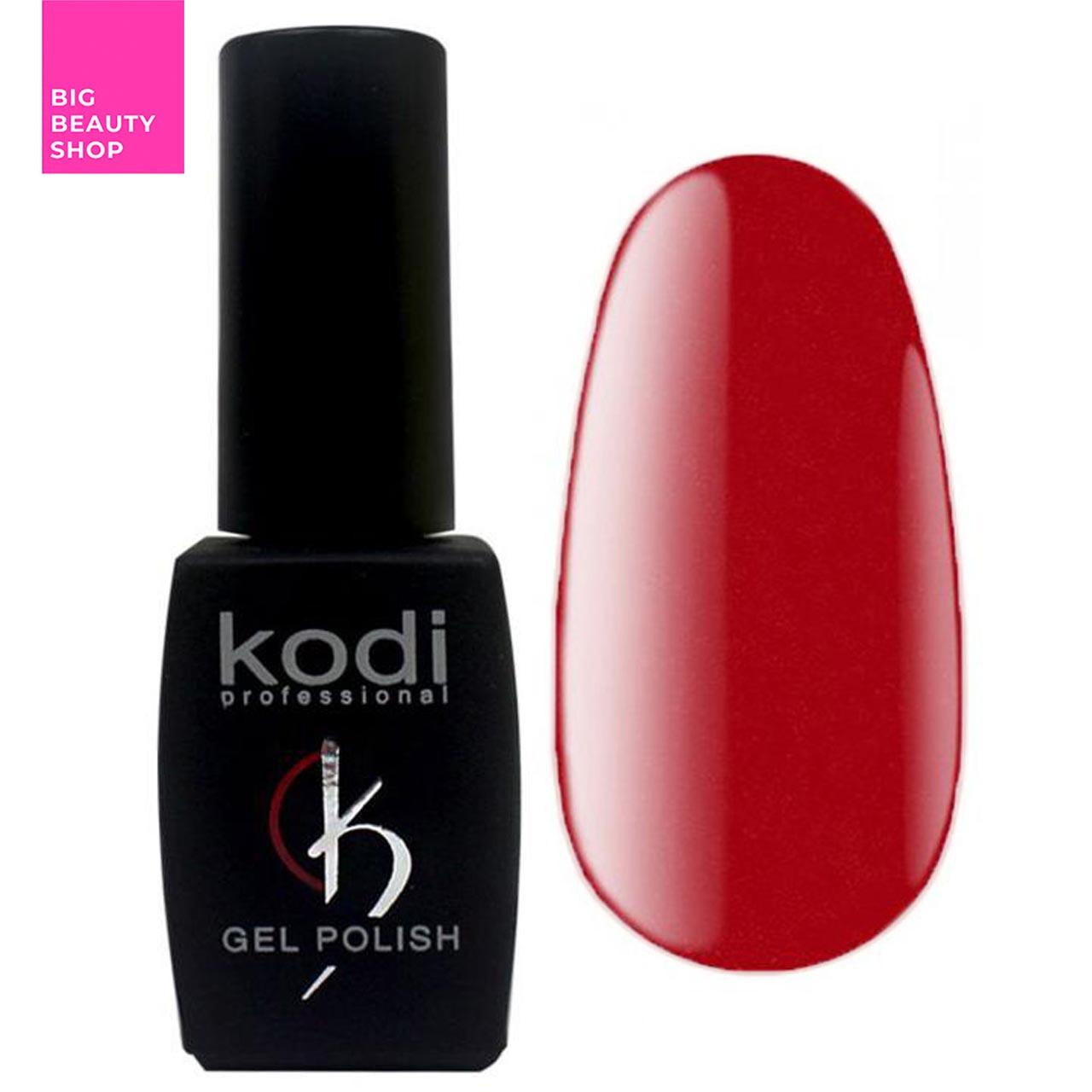 """Гель-лак для ногтей Kodi Professional """"Red"""" №R060 Классический красный с шиммером (эмаль) 8 мл"""