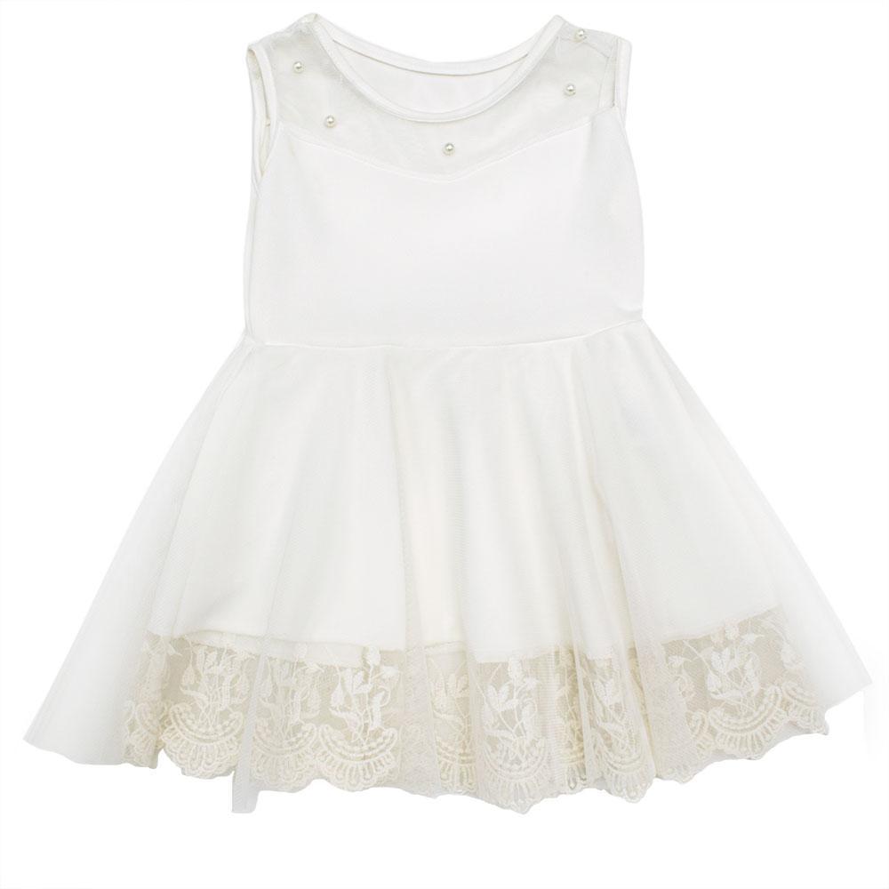 Платье для девочек Style younge 116  белое 8737