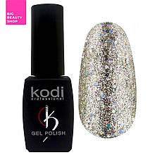 """Гель-лак для ногтей Kodi Professional """"Shine"""" №SH020 Холодное золото с голографиком 8 мл"""