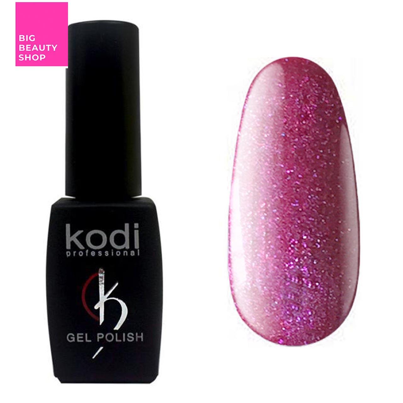 """Гель-лак для ногтей Kodi Professional """"Violet"""" №V091 Темный малиново-лиловый с шиммером (эмаль) 8 мл"""