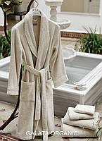 Банные халаты Galata Organic из органического хлопка  HAMAM  IVORI размер L/XL кремовый