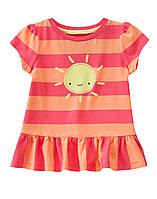 Детская летняя футболка для девочки  18-24 месяца, 2 года