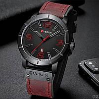 Мужские часы CURREN  8327 Bordo-Black, наручные кварцевые часы, отличное качество