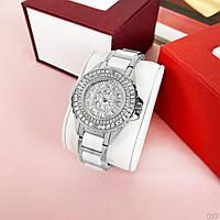 Женские часы BEE SISTER 1490 Silver-White Diamonds, кварцевые часы с камнями, отличное качество