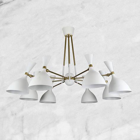 Люстра белая на 8 ламп, фото 2