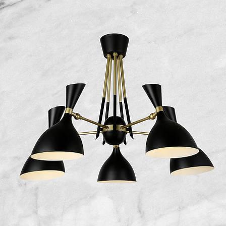 Люстра чёрная на 5 ламп, фото 2
