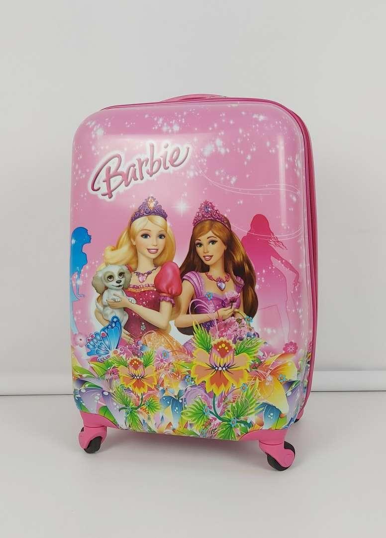 Пластиковый чемодан для девочки с принцессами Barbie