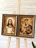 Янтарная пара икон , ікони з бурштину пара 20x30 см, фото 3