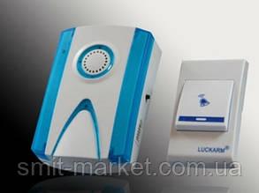 Звонок беспроводной luckarm intelligent с кнопкой на батарейке, фото 2