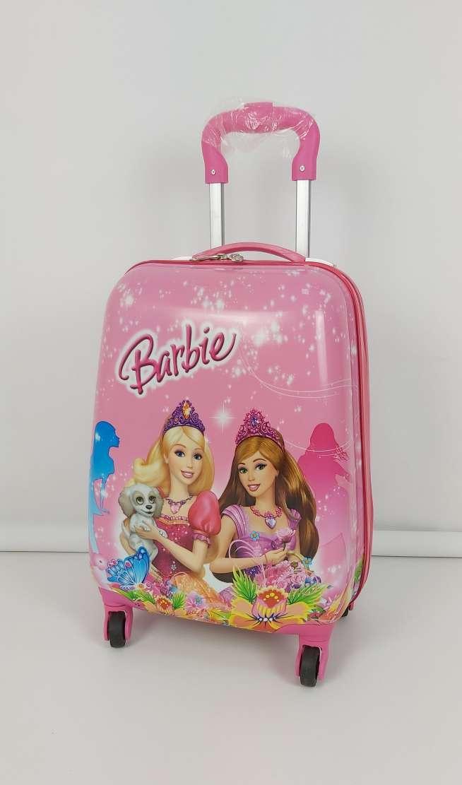 Яркий пластиковый чемодан для девочек  принцессами Barbie