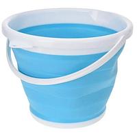 Ведро 10 литров туристическое складное Collapsible Bucket силиконовое, фото 1