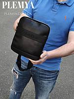 Мужская кожаная сумка через плечо Calvin Klein черная барсетка / мессенджер городская