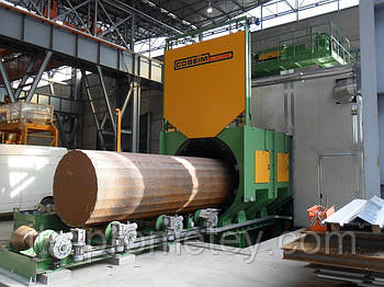 Дробеметная установка COGEIM для очистки труб тип GRB