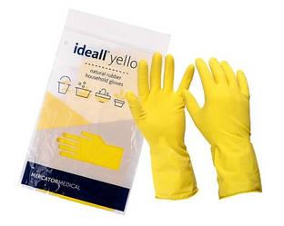Перчатки хозяйственные Ideall Yellow Household (1 пара/уп)