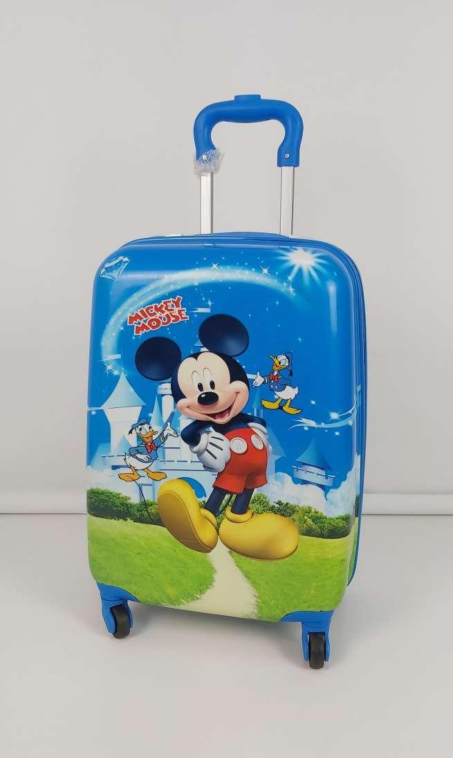 Детский чемодан на колесиках из пластика с Микки