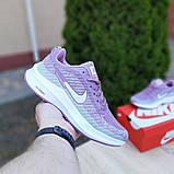 Женские кроссовки Nike Flyknit Lunar 3 серые с сиреневым, фото 2