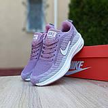 Женские кроссовки Nike Flyknit Lunar 3 серые с сиреневым, фото 8