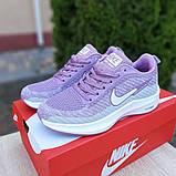 Женские кроссовки Nike Flyknit Lunar 3 серые с сиреневым, фото 7
