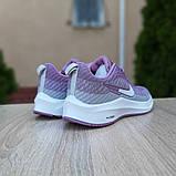 Женские кроссовки Nike Flyknit Lunar 3 серые с сиреневым, фото 3
