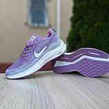 Женские кроссовки Nike Flyknit Lunar 3 серые с сиреневым, фото 4