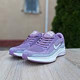 Женские кроссовки Nike Flyknit Lunar 3 серые с сиреневым, фото 6