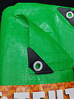 Тент для укрытия 8х10 от дождя и снега, затеняющий 100 г / м2. Зеленый цвет.
