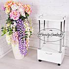 Косметологическая тележка мастера с выдвижным ящиком Beauty Comfort стеллаж, фото 3