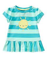 Детская летняя футболка для девочки  18-24 месяца