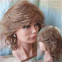 Парик из натуральных волос каскад светло-русый ALINA-10