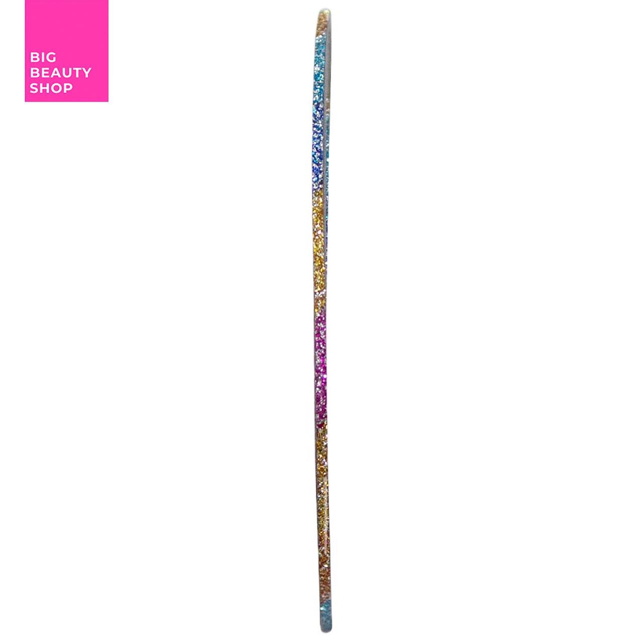 Голографическая полоска для ногтей ANVI 1 мм (цветная с блестками)