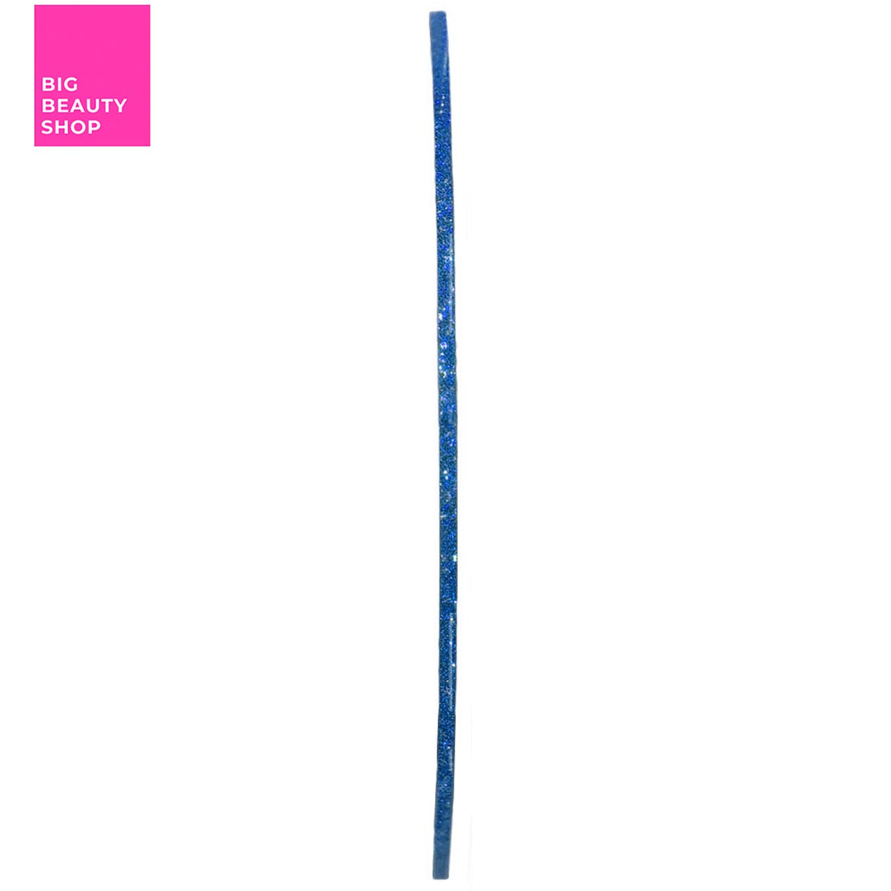 Голографическая полоска для ногтей ANVI 1 мм (синяя с блестками)