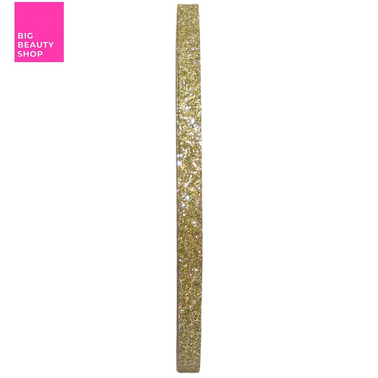 Голографическая полоска для ногтей ANVI 3мм (золота с блестками)