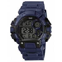 Мужские часы Q&Q M144J011Y Темно-синие