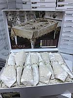 Скатерть на стол бархатная с салфетками