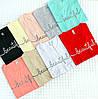Базовая женская футболка Турецкая 42-46 (в расцветках), фото 10