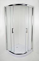 Душова кабіна NIKA 90х90х15, 8015N з піддоном 10см