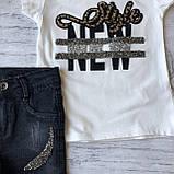 Летний джинсовый костюм на девочку 42. Размер  3 года, 4 года, 5 лет, 6 лет, фото 2