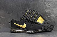 Кроссовки Nike Air Max 2017, черные с золотом, 44р. по стельке 28,2см