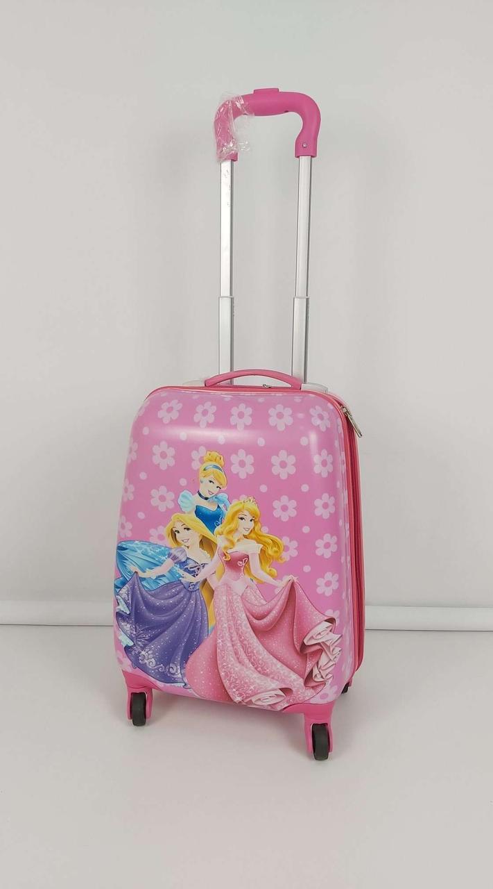 Стильный чемодан на колесиках с принцессами Disney