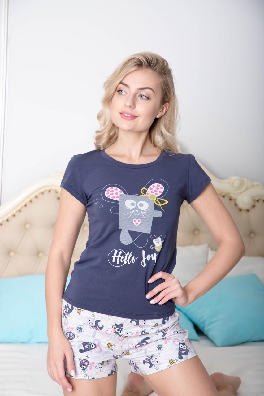 Пижама с шортами ТМ Antana Турецкий трикотаж