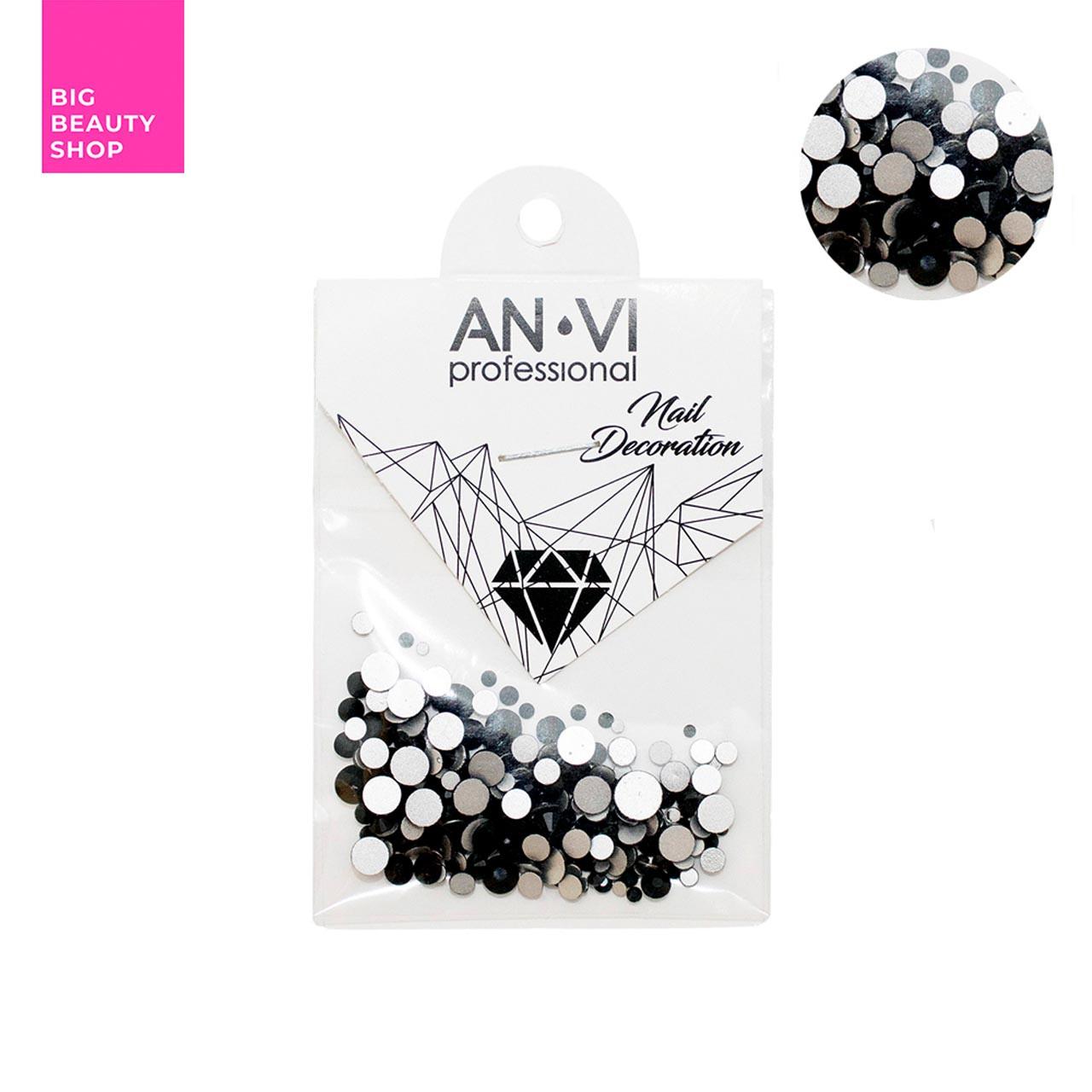 Стразы сваровски ANVI Professional MIX черные №18 200 шт