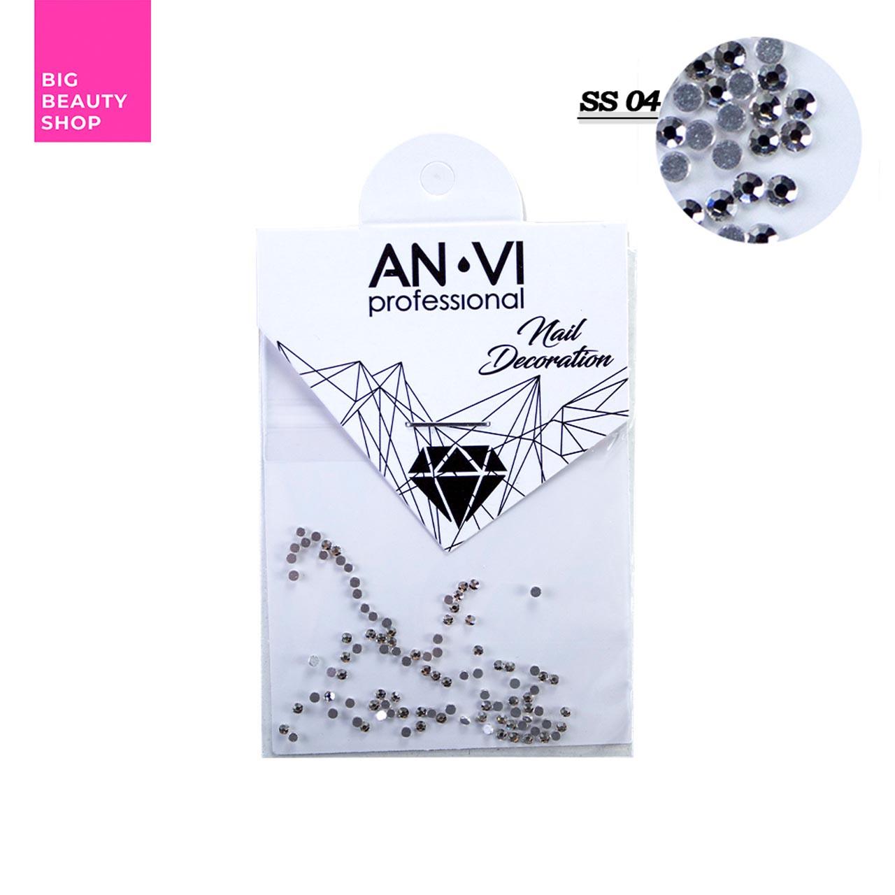 """Стразы для дизайна ногтей Swarovski ANVI Professional """"Crystal Pixie"""" №SS04, 100 шт"""
