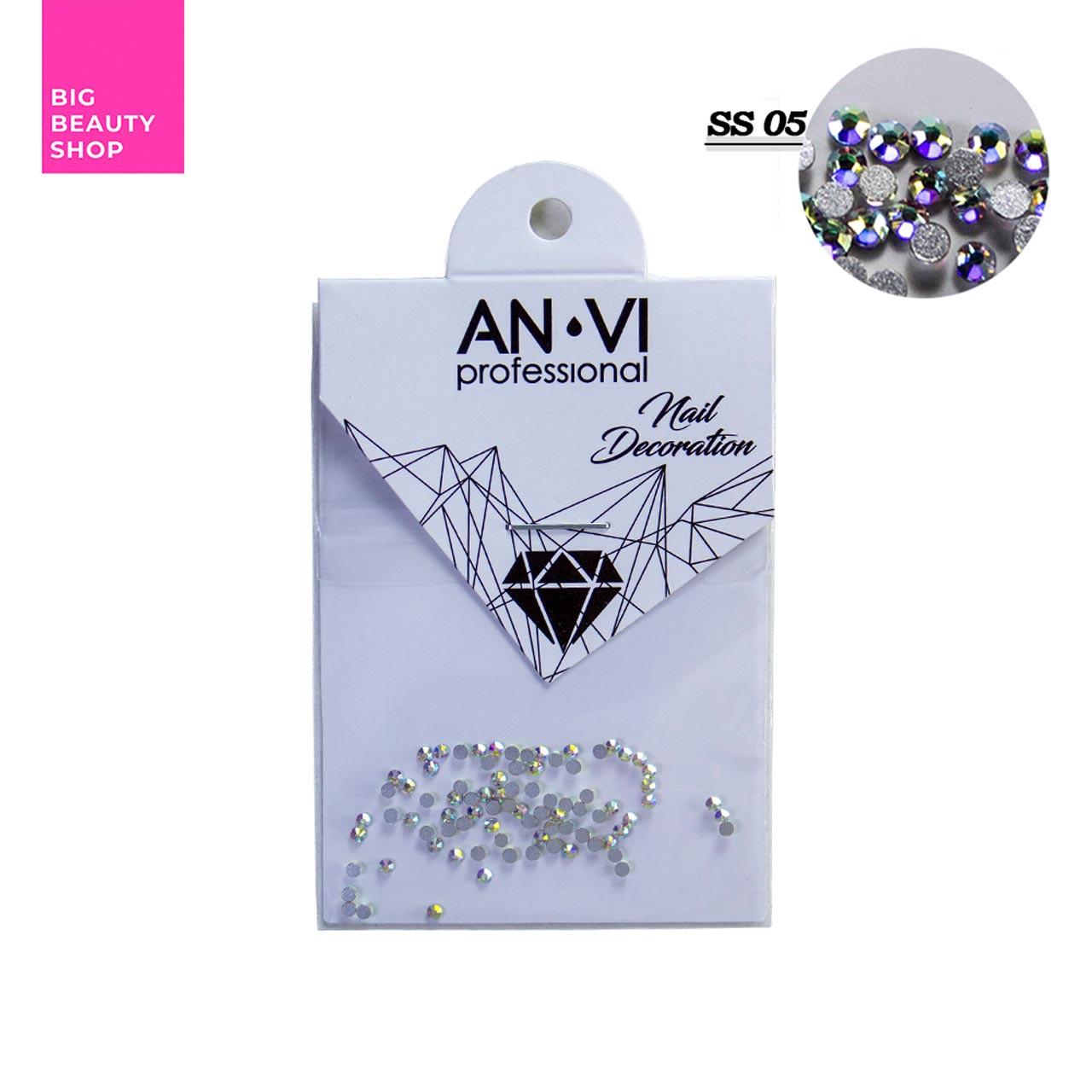 """Стразы для дизайна ногтей Swarovski ANVI Professional """"Crystal Pixie"""" №SS05, 100 шт"""